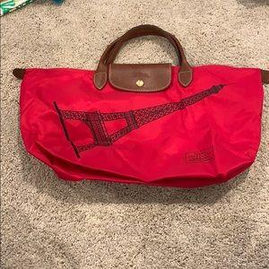 Longchamp- Eiffle Tower Red Bag